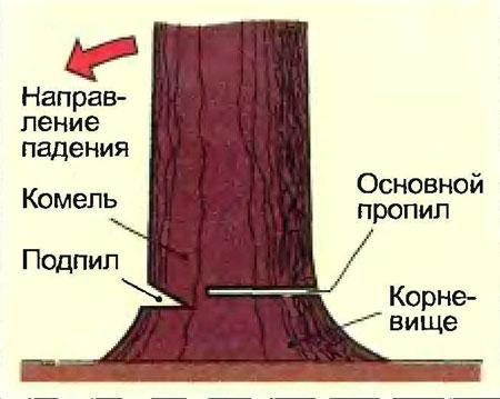 валки деревьев понадобится